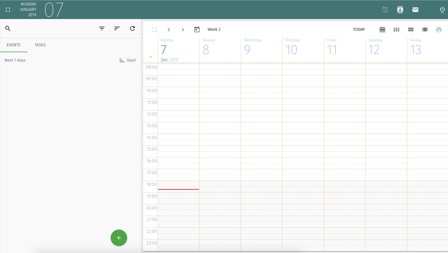 mailcow calendar screenshot