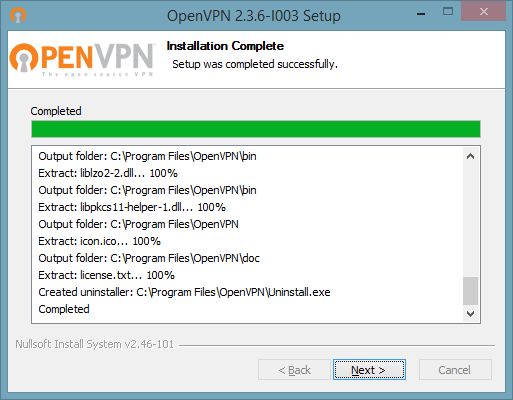 6n of 7 screenshot showing how to connect to OpenVPN on Windows 10